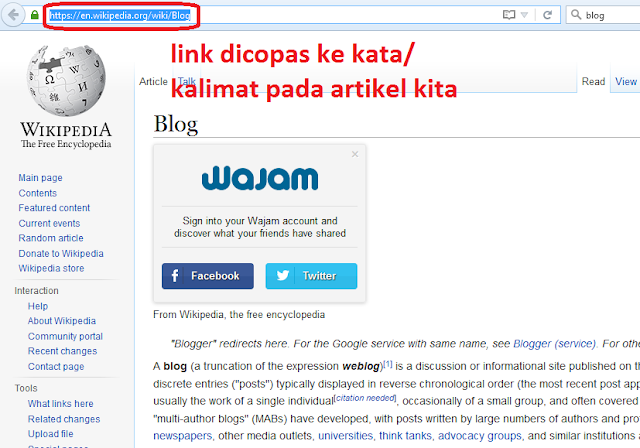 Cara posting di blog pekipedia