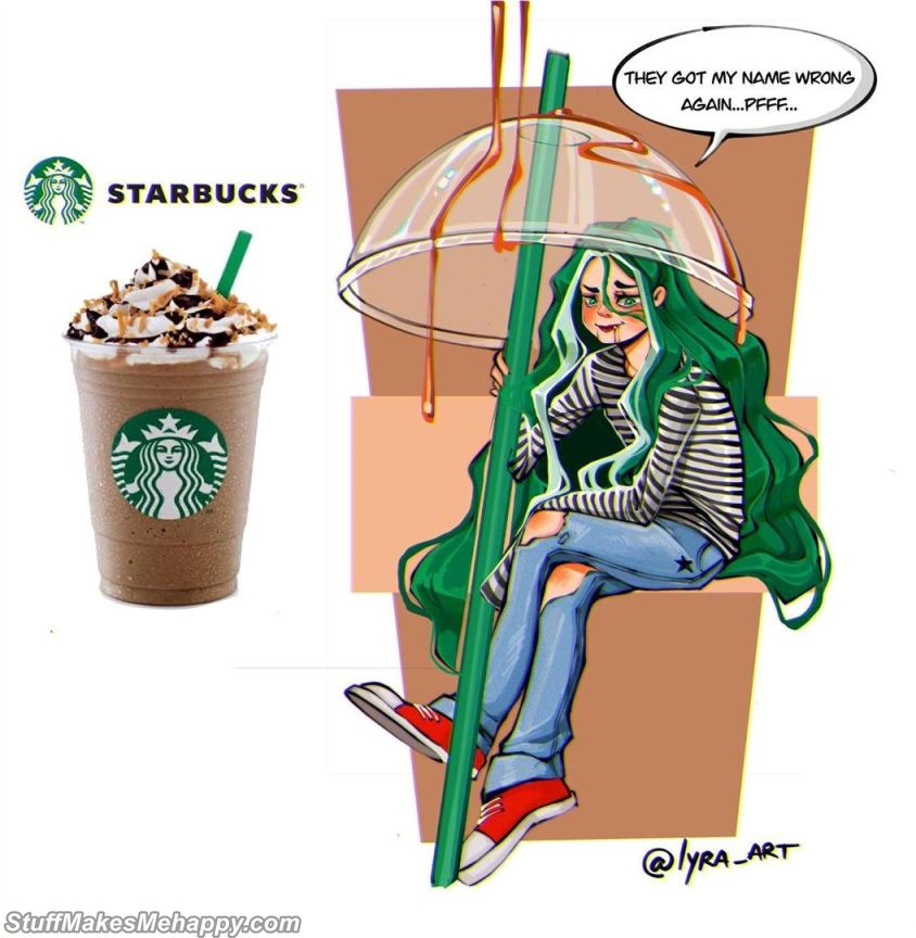 11. A drink from Starbucks