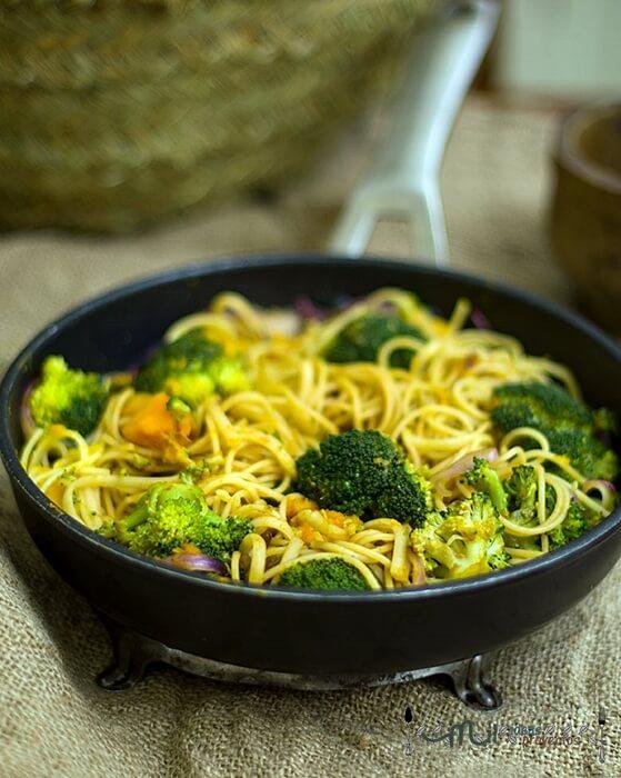 como preparar salteado de pasta y brocoli