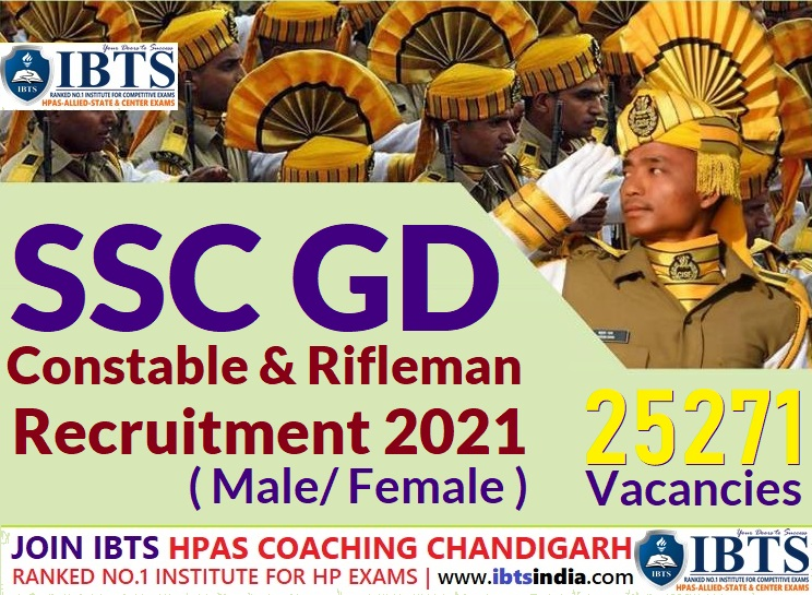 SSC Constable GD Recruitment 2021 : Apply Online for 25271 Posts (Male/Female)