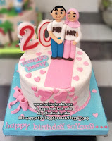 Kue Tart Anniversary Romantis dan Islami