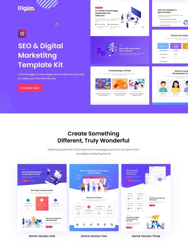 SEO & Digital Marketing Template Kit