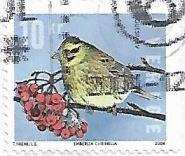 Selo Escrevedeira-amarela