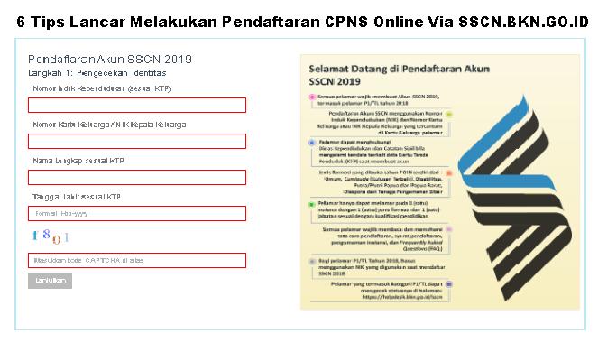 6 Tips Lancar Melakukan Pendaftaran CPNS Online Via SSCN.BKN.GO.ID