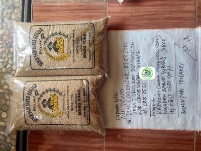 Benih padi yang dibeli   MUJIONO Grobogan, Jateng.  (Sebelum packing karung).