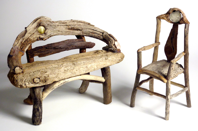 My Thanks To The Collectors Who Purchased My Miniature Rustic Twig Furniture  At The INDEPENDENCE PARK FINE CRAFTS FAIR Saturday!