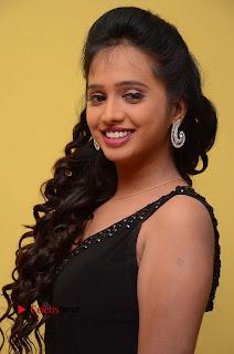 Actress Nakshatra Pictures in Black Long Dress at Miss South India 2016 Press Meet  0014.jpg