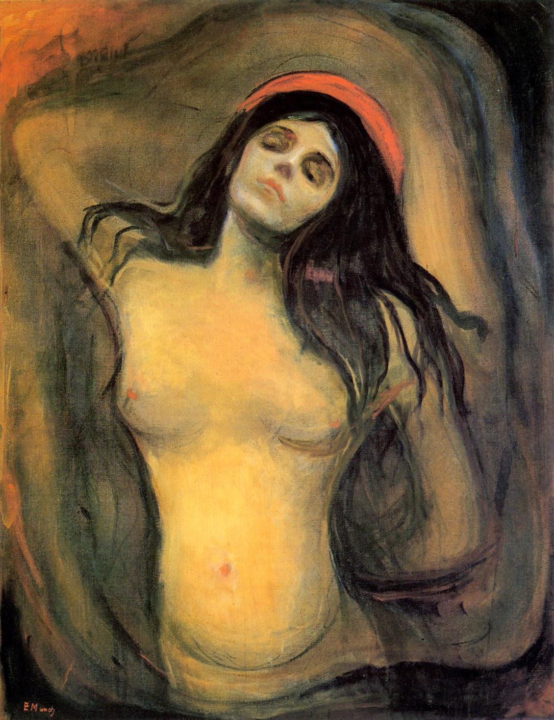 Madona - Munch, Edvard esuas principais pinturas ~ Um grito de desespero existencial