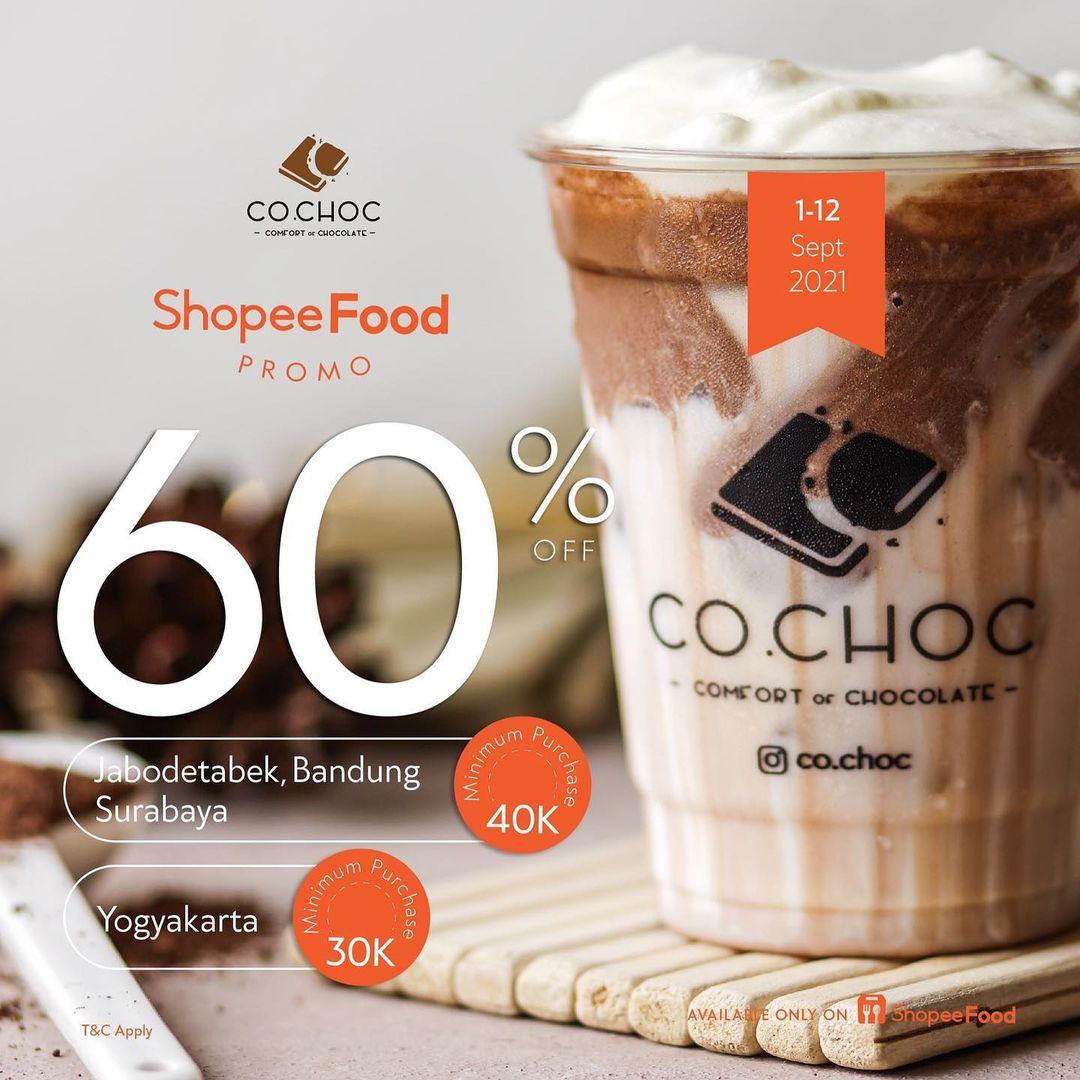 Promo CO.CHOC DISKON 60% via ShopeeFood
