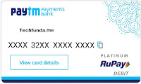 paytm Virtual Debit Card Services in India for Free