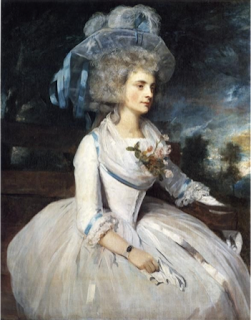 Joshua Reynolds, Lady Skipwith, 1787, Frick collection, USA. Lady Skipwith wears an English gown.
