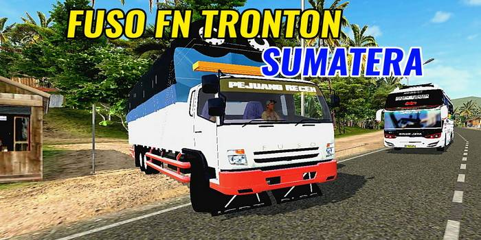 mod bussid truck fuso fn tronton sumatera