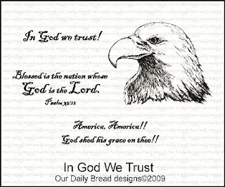 Our Daily Bread Designs Stamps - In God We Trust