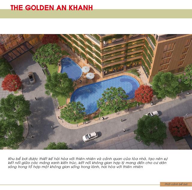 Hệ thống bể bơi ngoài trời tại dự án The Golden An Khánh