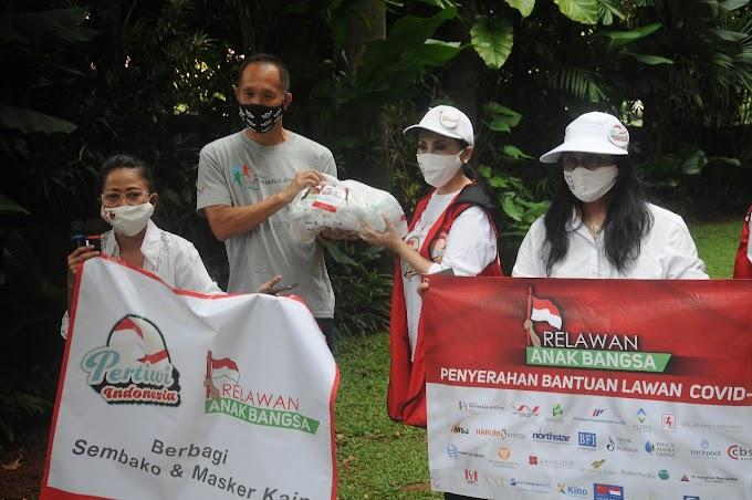 Relawan Anak Bangsa Dengan Pertiwi Indonesia Gotong Royong , Bantu Masyarakat Terdampak Pandemi Covid 19