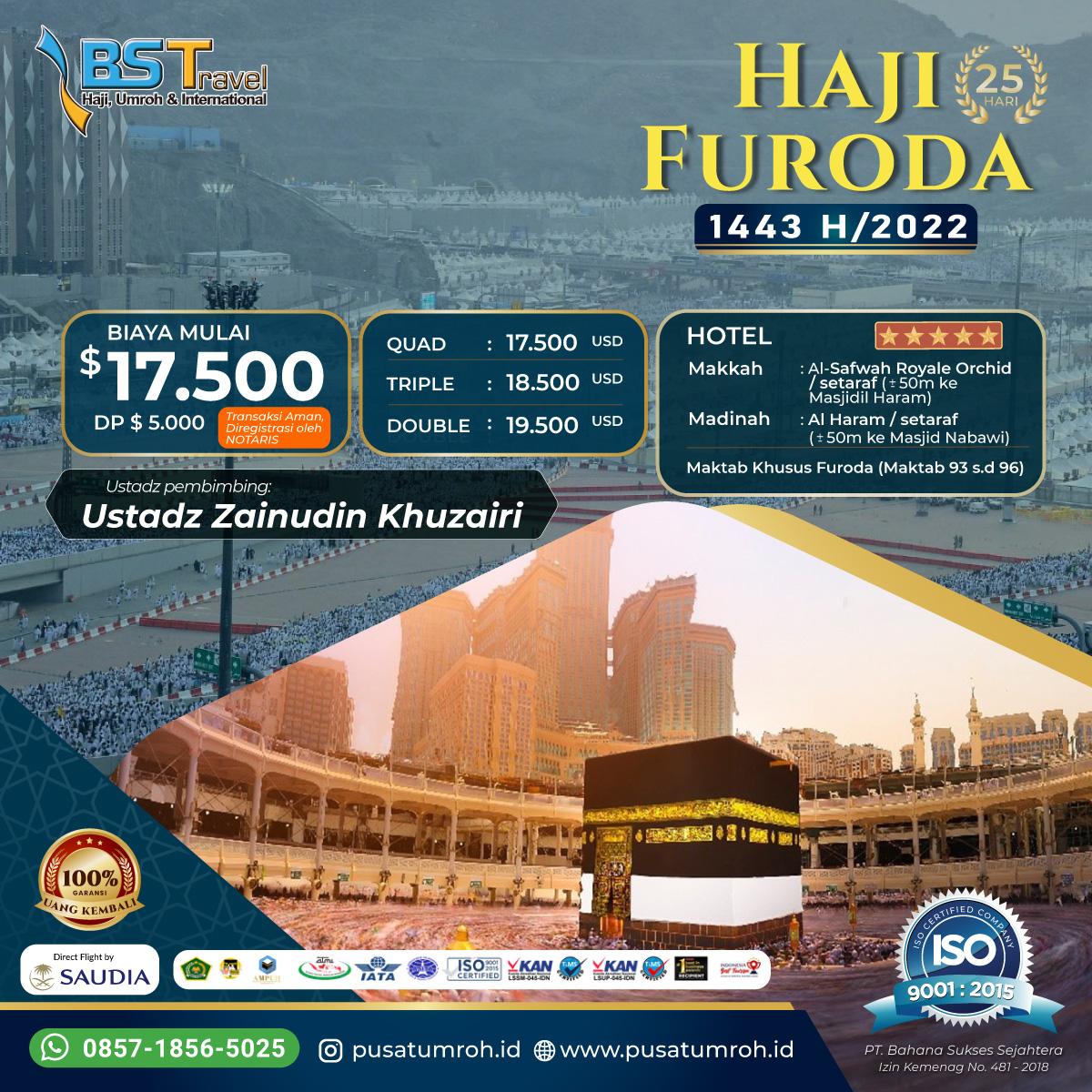 Biaya Haji Furoda 2022 Dalam Rupiah Fasilitas  Bintang 5