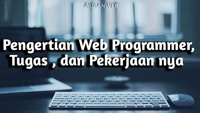 Pengertian Web Programmer : Tugas dan Pekerjaan nya