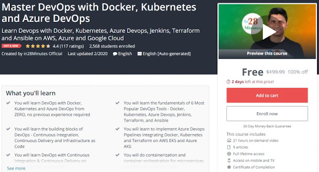 [100% Off] Master DevOps with Docker, Kubernetes and Azure DevOps| Worth 199,99$