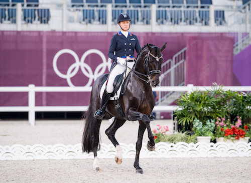 Adrienne Lyle and Salvino at Tokyo Olympics 2020