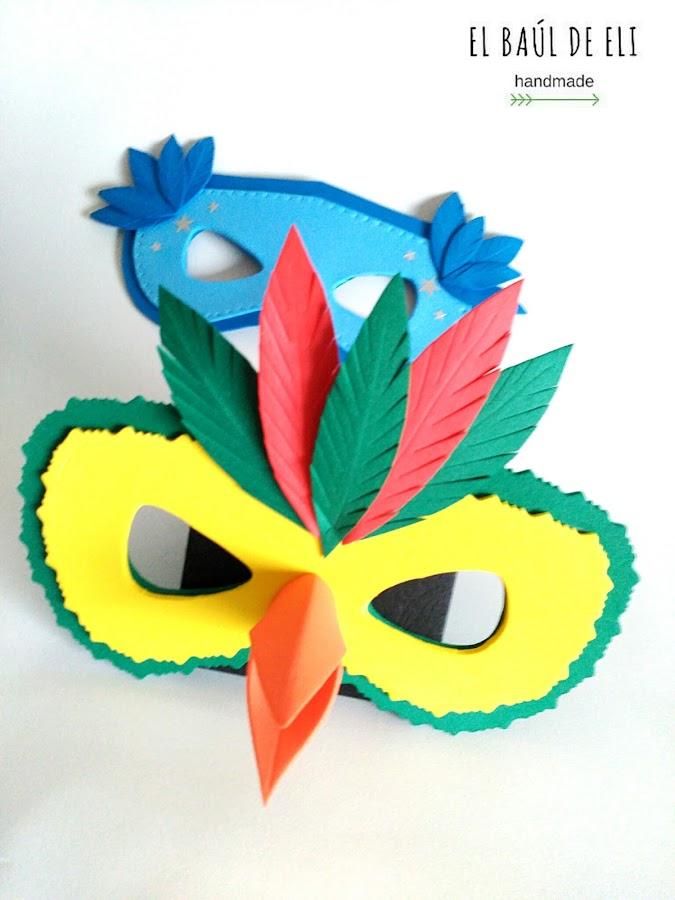 DIY, máscara, carnaval, goma eva