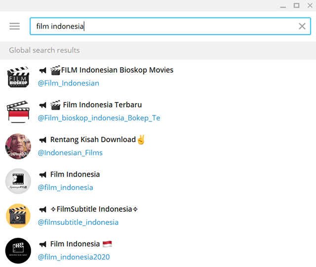 daftar chat room menonton film gratis di telegram