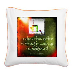 Funny Serious Coffee Quote Square Canvas Pillow