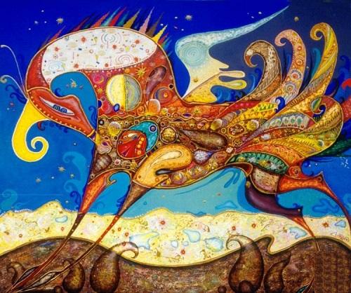 Ethno Futuristic painting by Yuri Dyrin