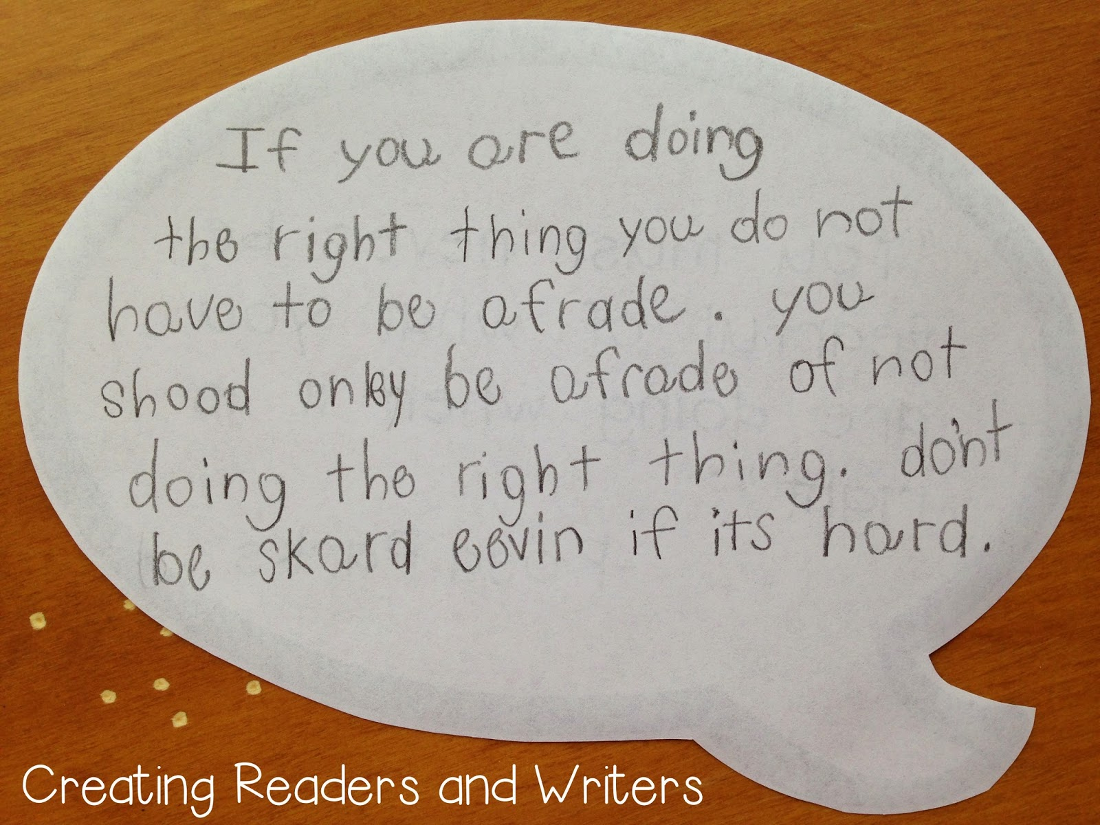 Creating Readers And Writers Go Rosa