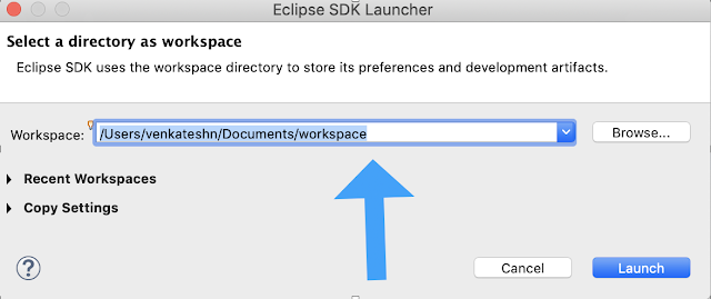 Eclipse SDK launcher