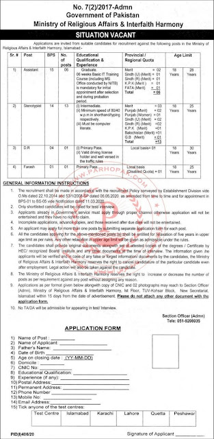 ministry-of-religious-affairs-jobs-july-2020-application-form