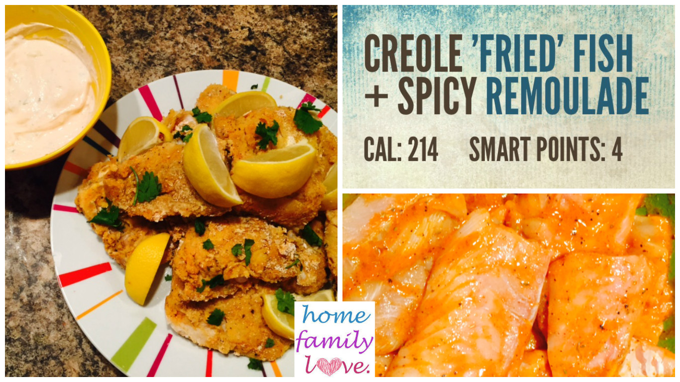 Homefamilylove healthy recipes inspiration creole for Is fried fish healthy