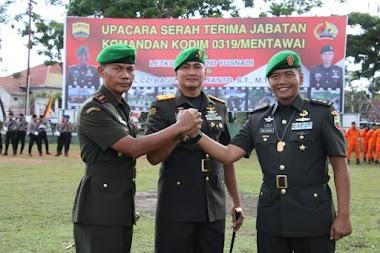 Danrem 032/Wirabraja Pimpin Sertijab Dandim 0319/Mentawai
