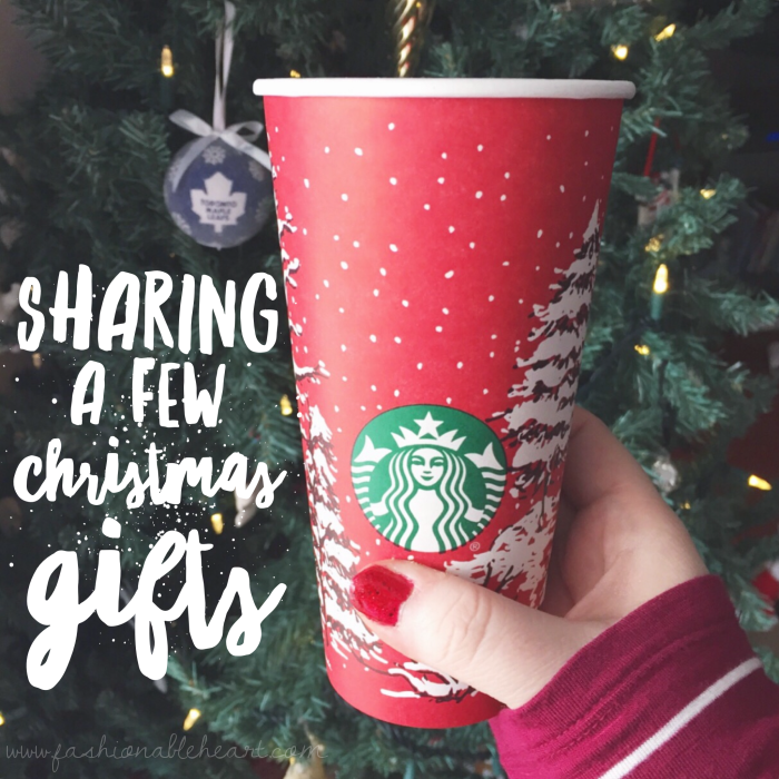 bbloggers, bbloggerca, canadian beauty bloggers, what i got for christmas, 2016, gifts, starbucks red cup, christmas tree
