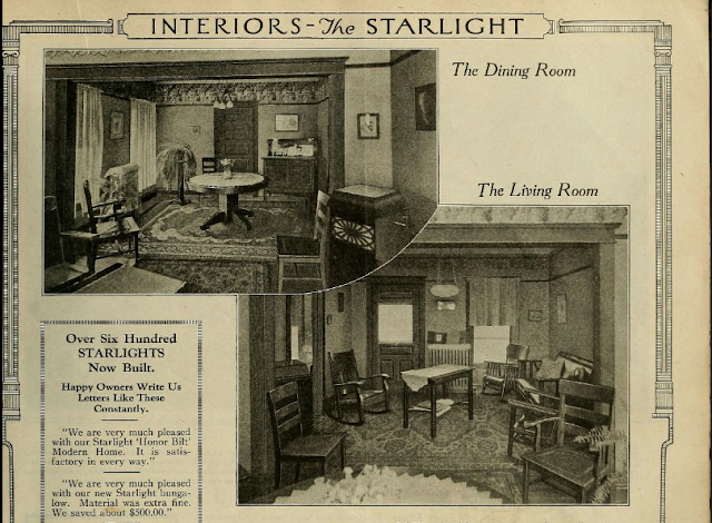Interior views of Sears Starlight 1923 catalog