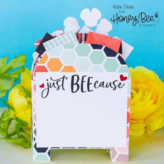 Happy Mail Just Beecause | 3D Post Box Card | Honey Bee Stamps by ilovedoingallthingscrafty.com