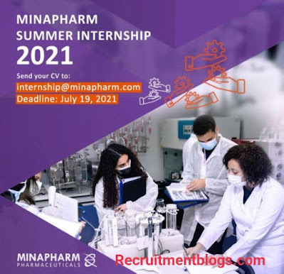 Minapharm Pharmaceuticals summer Internship 2021