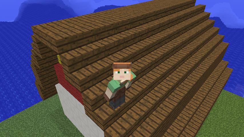 マインクラフト-腰折れ屋根の作り方   マイクラマルチプレイ ...