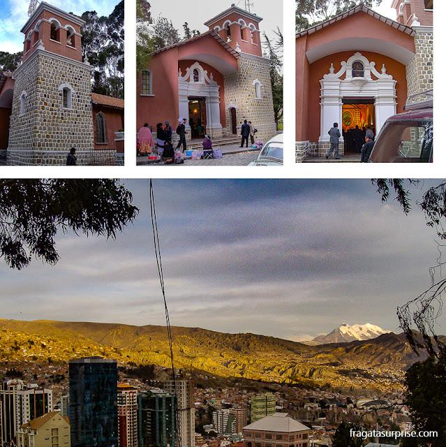 Parque El Montículo e mirante para o vulcão Illimani, em la Paz