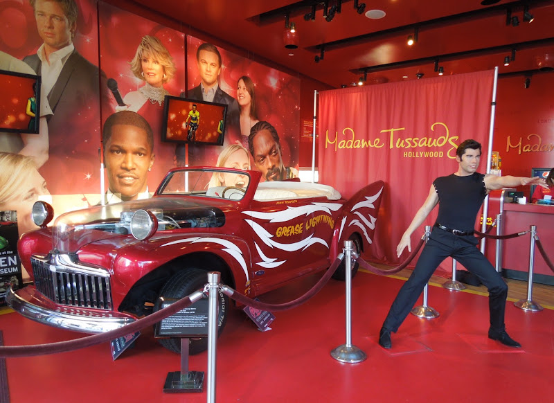 Grease Lightning car Danny Zuko waxwork Madame Tussauds