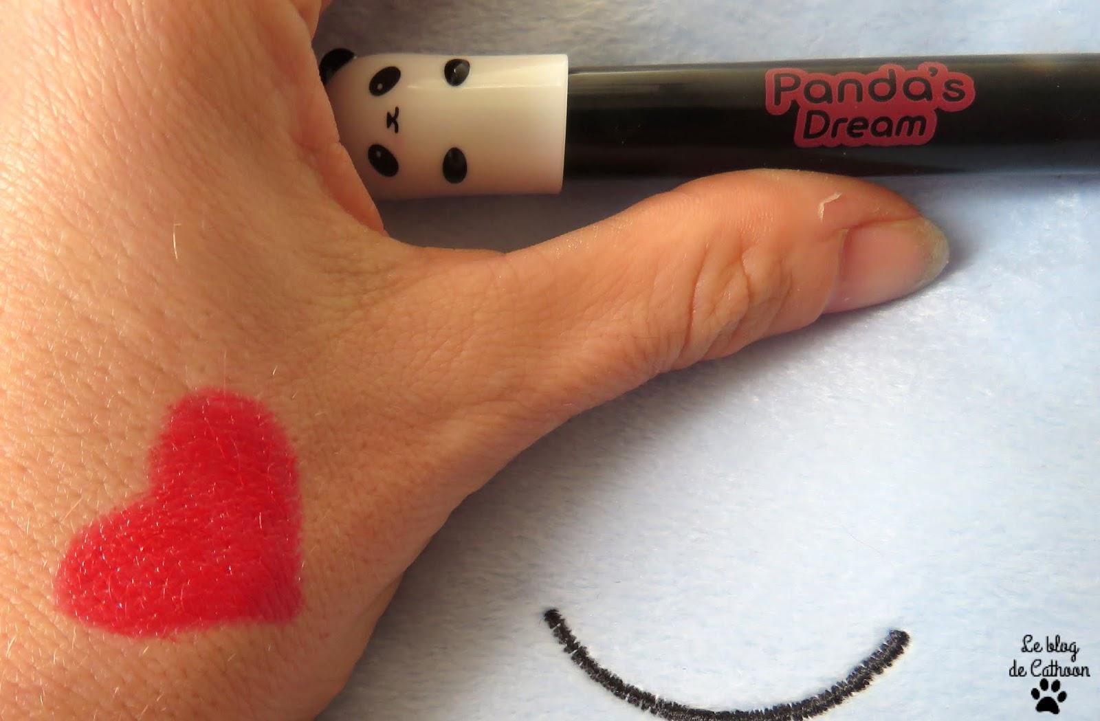 Panda's Dream - Glossy Lip Crayon - Red Berry - Tony Moly