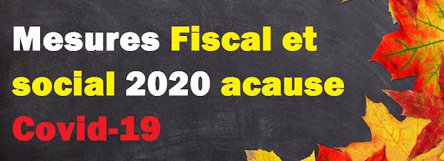 changement dépôt laisse 2019-mesures social et fiscal cause covid-19