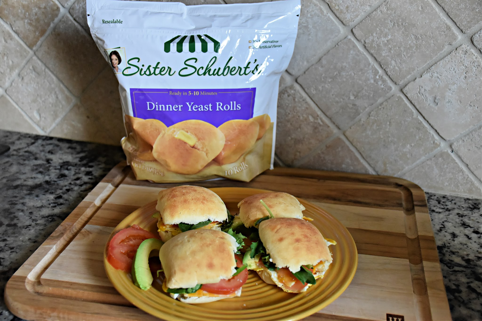 Mini Egg Sandwiches Recipe with Sister Schubert's® Dinner Yeast Rolls