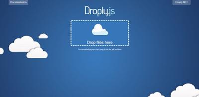 Droply.net - minimalist responsive large digital file uploader