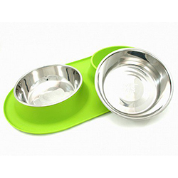 Messy Mutts Silicone Double Feeder Dog Bowl