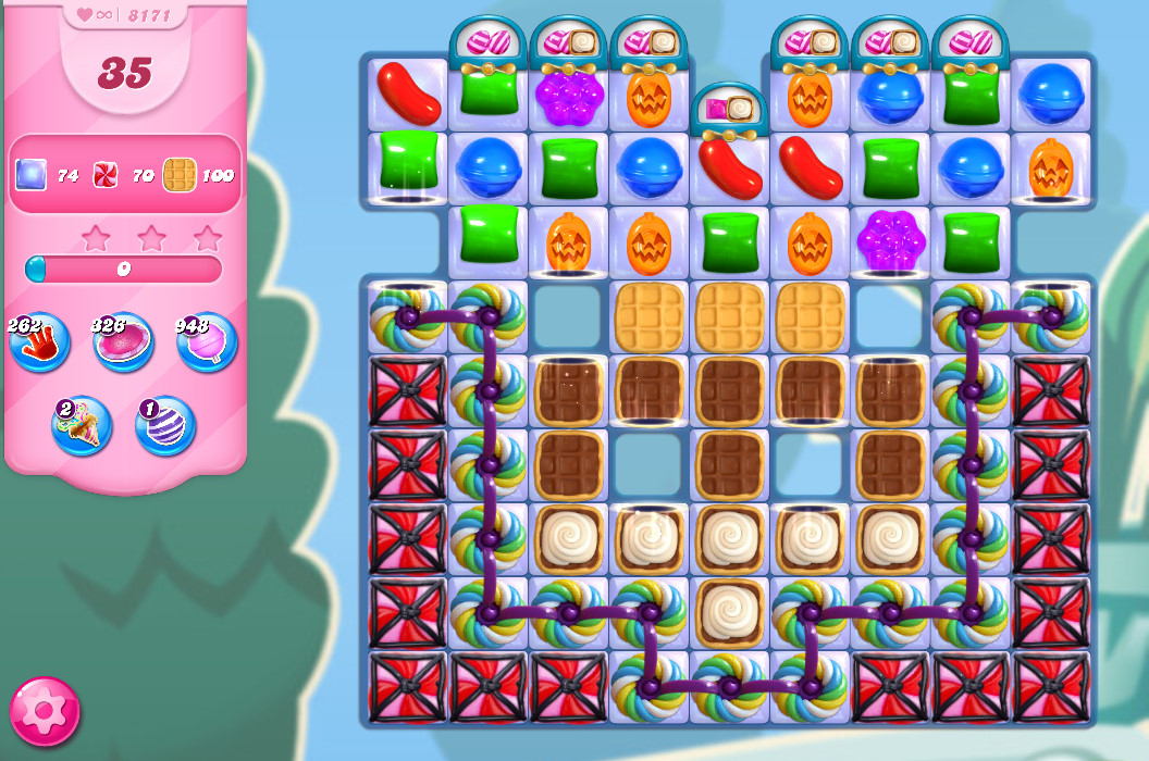 Candy Crush Saga level 8171