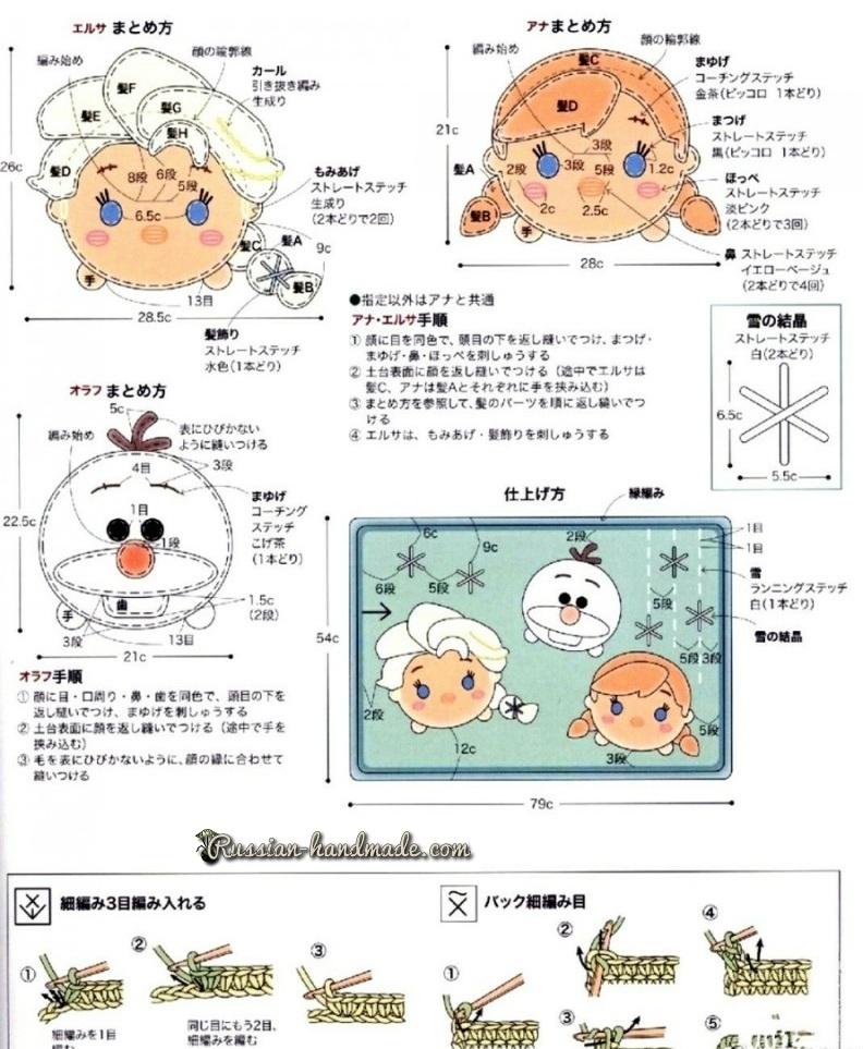 Схемы вязания детского коврика с аппликацией (4)