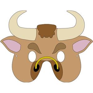 foami de  máscara de vaca