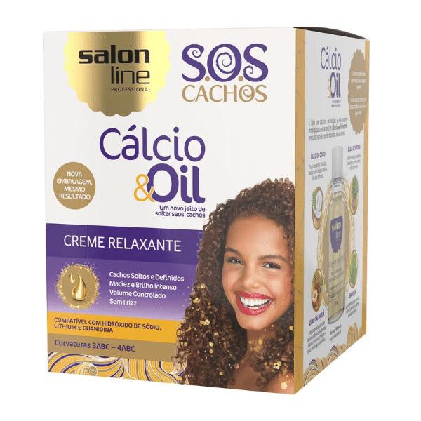 Creme Relaxante Calcio  Oil  SOS Cachos Salon Line