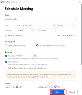 Cara Membuat Schedule atau Jadwal Meeting di Zoom Meeting
