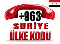 +963 Suriye ülke telefon kodu